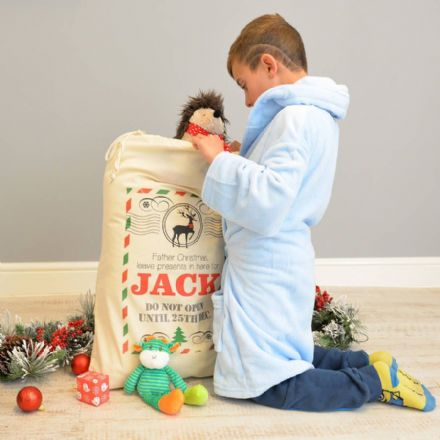 Personalised Christmas Postcard Sack